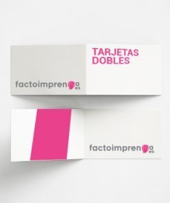 tarjetas de visita dobles