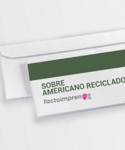 sobre americano reciclado