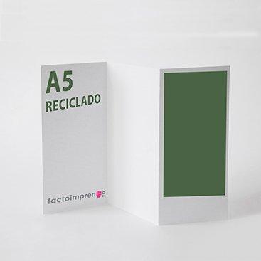 tríptico b6 reciclado